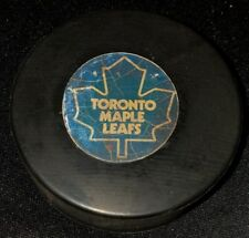 OFFICIAL GAME PUCK NHL USED VICEROY CANADA TORONTO MAPLE LEAFS CANADA DARK LOGO