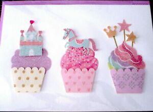 Papyrus Unicorn Castle Cupcakes Happy Birthday Greeting Card