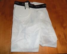 Z-Cool Gear Athletic Padded Shorts Size M Medium White Protective Sport Short