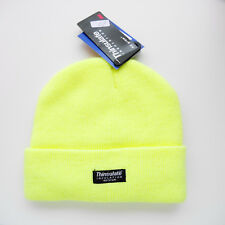 WOMANS YELLOW KNITTED HAT WITH 3M THINSULATE INSULATION STRETCH ONE SIZE