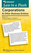 Emanuel Law in a Flash: Corporations & Other Business Entities 2-Part Set Cards