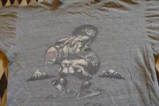 Vintage Blitz Weinhard Beer Thin Heather Gray Tri Blend T Shirt Small Caveman