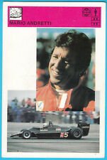 MARIO ANDRETTI Italy & USA famous F1 driver Formula 1 vintage trading card LARGE