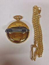 Jaguar E Type Series 1 ref101 Pewter Effect gold case pocket watch