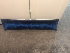 HandMade Crushed Velvet Door Draught Excluder, Draft Stopper