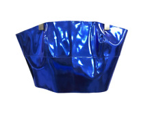 New Emporio Armani Strapless Top UK 10 IT 42 Metallic Blue Corset Party 261809