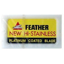 100 Feather Razor Blades Hi Stainless Double Edge F100