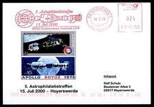 25J.Apollo-Sojus.5.Astrophilatelie-Treffen,Hoyerswerda.SK-Brief.SoSt.BRD 2000.