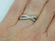 DIAMOND CRISS CROSS RING-SIZE R-0.250CTS-WITH PLATINUM