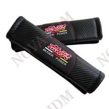 X2 High Quality MUGEN Carbon Look Car Seat Belt Cover Shoulder Pads HONDA ACURA