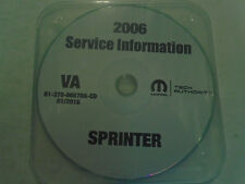 2006 DODGE SPRINTER Service Shop Repair Workshop Manual CD NEW Factory