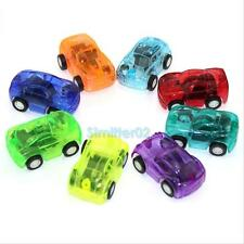 5PCS Kids Children Boy Toy Transparent Racing Pull Back Cars Xmas Party Gift Set