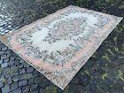 Wool rug, Turkish rug, Vintage rug, Handmade rug, Large, Carpet   5,8 x 8,6 ft