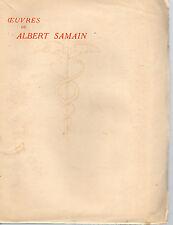 OEUVRES DE ALBERT SAMAIN Tome 3, CONTES, POLYPHEME, POEMES INACHEVES, MERCURE F