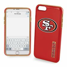 """For iPhone 6 and 6s 4.7"""" Screen ONLY San Francisco 49ers Dual Hybrid Case Red"""