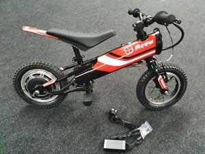 "Yotsuba Meow 12"" 3-6 year Kids MX Motocross Style Electric Balance Training Bike"