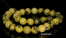 10MM YELLOW TURQUOISE GEMSTONE YELLOW ROUND 10MM LOOSE BEADS 7.5""