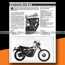 ★ YAMAHA XT 500 ★ 1979 Essai Moto / Original Road Test #a292