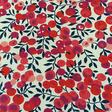 WILTSHIRE RED ON WHITE 1,00 MTR  by LIBERTY on TANA LAWN COTTON