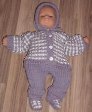 Puppenkleidung  4 - teliges Set für Puppen und Babys  Größe: 45 - 48 cm