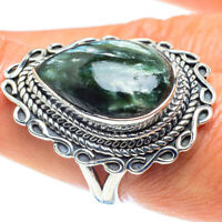 Seraphinite 925 Sterling Silver Ring Size 8.25 Ana Co Jewelry R59027F