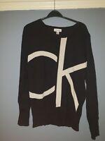 Calvin Klein Large Black Womens Jumper Sweatshirt CK