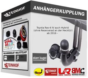 Anhängerkupplung Starr AHK Toyota RAV-4 IV FL auch Hybrid + E-SATZ 13-P für PDC