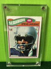 1977 Topps #177 Autographed STEVE LARGENT ROOKIE Seattle Seahawks Vg Excellent