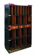 Authentic Models Ritz Lobby Cabinet, Black - Ritz Lobby Shelf Rack, Black
