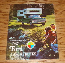 Original 1967 Ford for Recreation Car & Truck Sales Brochure 67 Mustang Falcon