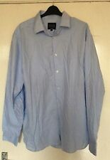 CHARLIE ALLEN, GEORGE, 17 1/2 INCH NECK, EUR 44, BLUE LONG SLEEVE SHIRT, COTTON
