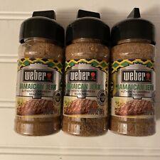 Lot of 3 Weber Jamaican Jerk Seasoning 3oz each Caribbean Zesty Spice Mix