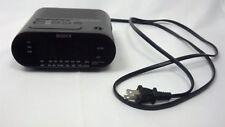 SONY DREAM MACHINE BLACK ELECTRIC ALARM CLOCK DIGITAL DISPLAY RADIO ICF 0218