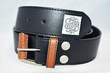 """Obey Men leather belt name LOOSE CHANGE Belt Black color size 32"""""""