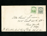 Bermuda Scarce Early Cover w/ 2 Stamps