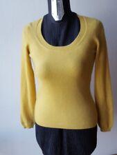 STEFANEL maglione giallo cashmere tg s