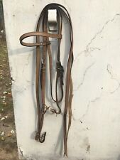 Used Horse Headstall And Split Reins