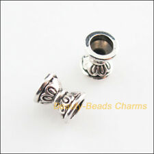45Pcs Tibetan Silver Tone Flower Cone Spacer Beads Charms 6.5mm
