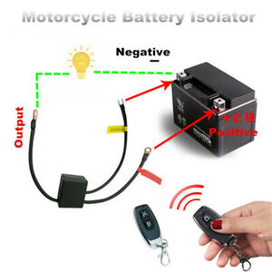 Motorcycle Wireless 12V Battery Disconnect Cut Off Isolator Master Kill Switch
