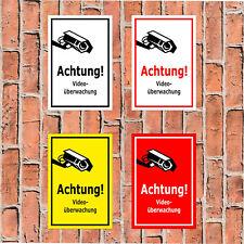 Schild Achtung! Videoüberwachung - in 4 Größen - S00349-126