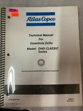 Atlas Copco Dhd Classic Series Technical Manual Downhole Drill 375