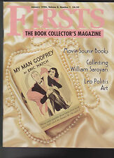 Firsts Book Collectors Magazine January 1998 Leo Politis William Saroyan