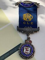 Antique/vintage Large Sterling Silver 925 Albert Chains Watch Fob Medal Primo