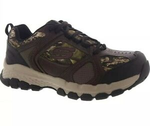 SKECHERS QUEZNELL HULEN SAFETY STEEL TOE CAMO WORK SHOES - CHOOSE MEN SIZE