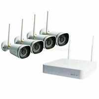 Foscam Wireless 4CH 1.0MP NVR HD Camera IP66 Waterproof Camera Security System