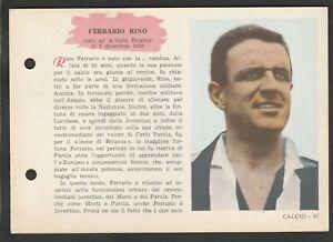 FIGURINA SCHEDA CALCIATORI EDIZIONI SPORT NAPOLI 1958-59 JUVENTUS FERRARIO