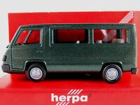 Herpa 041386 Mercedes-Benz 100 D Bus (1992) in dunkelgrünmet. 1:87/H0 NEU/OVP