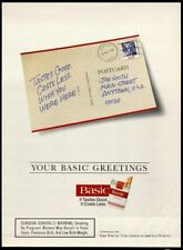 BASIC Filters Cigarettes Postcard - 1995 Vintage Print Ad