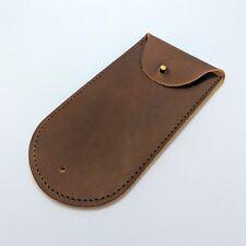 Leather Travel & Storage Watch Pouch - Dark Brown