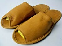 Rocky Mountain Travel Leather Slippers Artist Lacombe Butter Hide Mens M Canada